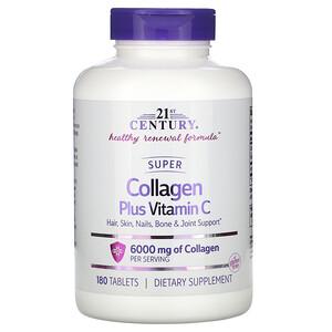 21 Сенчури, Super Collagen Plus Vitamin C, 6,000 mg, 180 Tablets отзывы покупателей