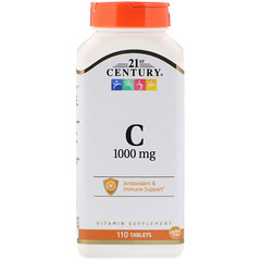 21st Century, ビタミンC、1000mg、110錠