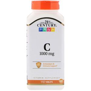 21 Сенчури, Vitamin C, 1,000 mg, 110 Tablets отзывы покупателей