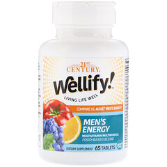 21st Century, Wellify! Men's Energy, Multivitamin Multimineral, 65 Tablets