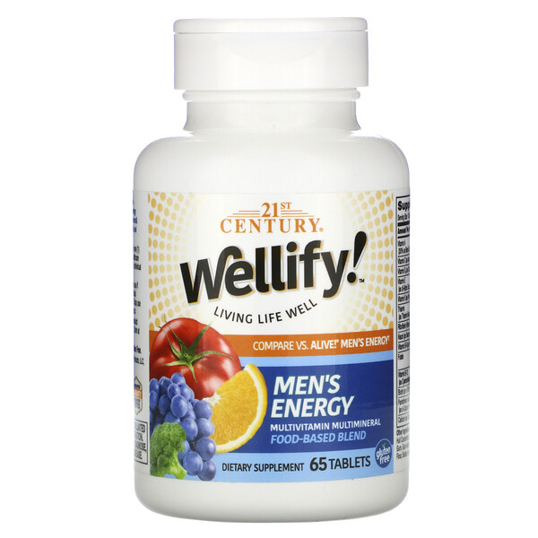 Wellify! Men's Energy, Multivitamin Multimineral, 65 Tablets