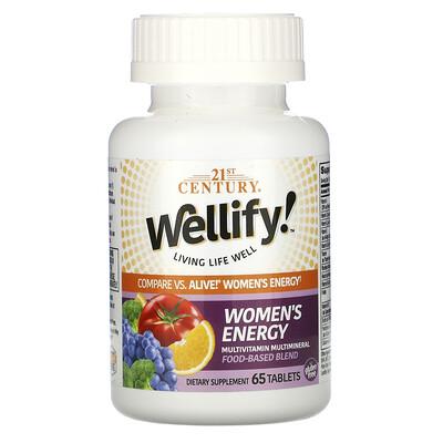 Купить 21st Century Wellify, энергетические мультивитамины и мультиминералы для женщин, 65таблеток