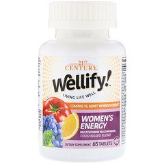 21st Century, Wellify! Women's Energy, Multivitamin Multimineral, 65 Tablets