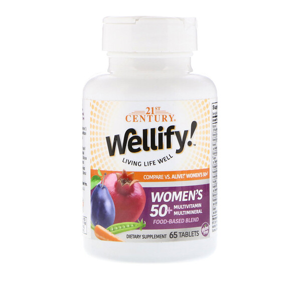 21st Century, Multivitamina multimineral Wellify Women's 50+, 65 tabletas