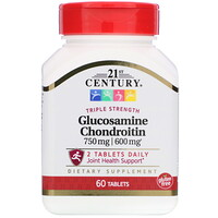 21st Century, Glucosamine / Chondroitin, Triple Strength, 60 Tablets