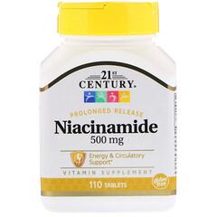 21st Century, ナイアシンアミド, 500 mg, 110 錠