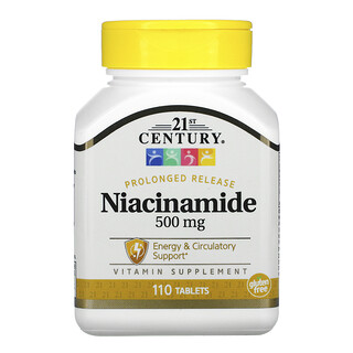 21st Century, Prolonged Release Niacinamide, 500 mg, 110 Tablets