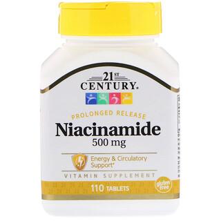 21st Century, Niacinamide, 500 mg, 110 Tablets