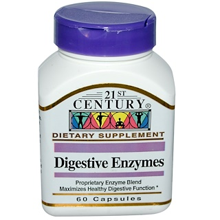 21st Century, Digestive Enzymes, 60 Capsules