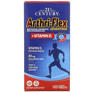 21st Century, Arthri-Flex avanzado más vitaminaD3, 120comprimidos recubiertos