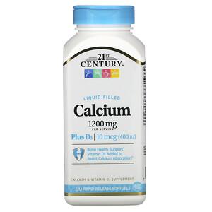 21 Сенчури, Liquid Filled Calcium Plus D3, 1,200 mg, 90 Rapid Release Softgels отзывы покупателей