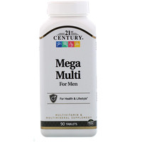 Mega Multi, для мужчин, мультивитамины и мультиминералы, 90 таблеток - фото