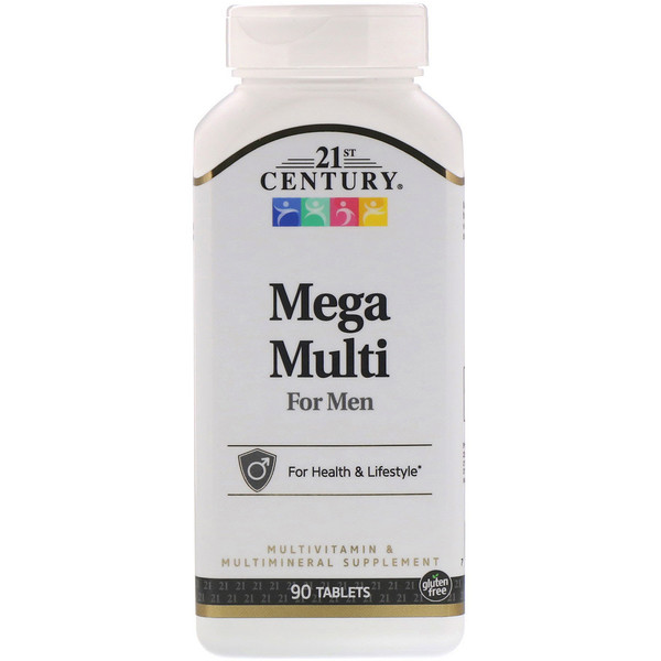21st Century, Mega Multi for Men, Multivitamin & Multimineral, 90 Tablets