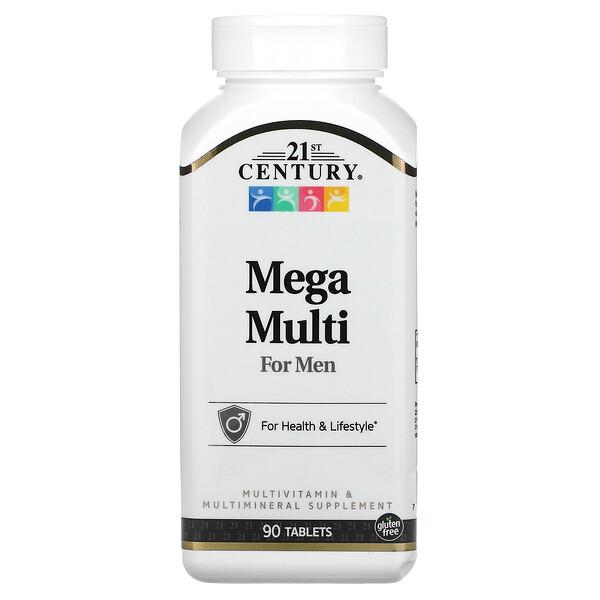 メガマルチ、男性用、マルチビタミン&マルチミネラル、90粒