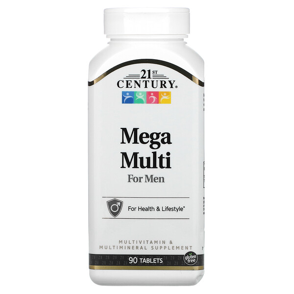 Mega Multi، للرجال، فيتامينات ومعادن متعددة، 90 قرصًا