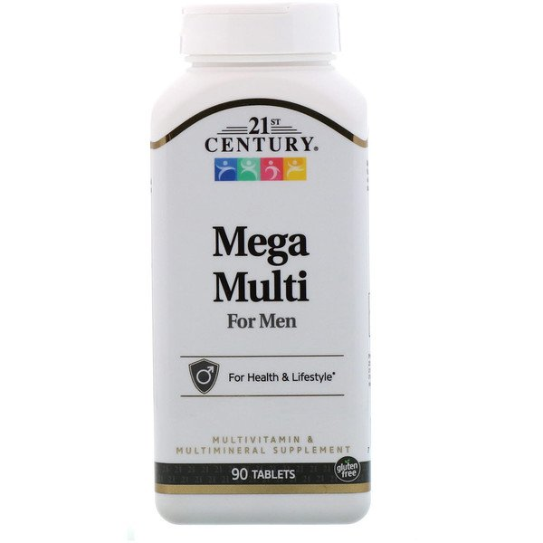 21st Century, Mega Multi, For Men, Multivitamin & Multimineral, 90 Tablets
