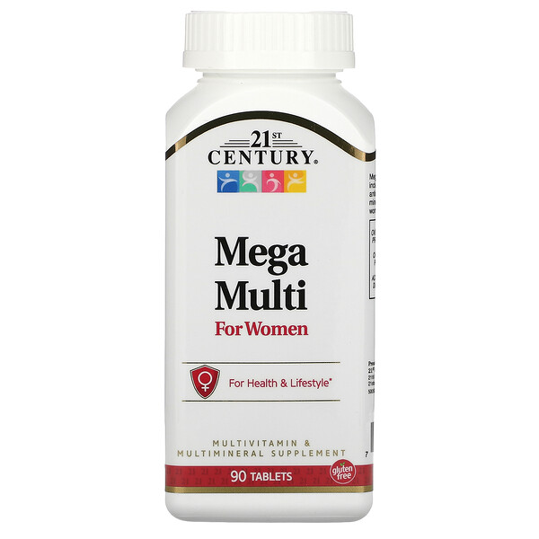 21st Century, Mega Multi, For Women, 90 Tablets