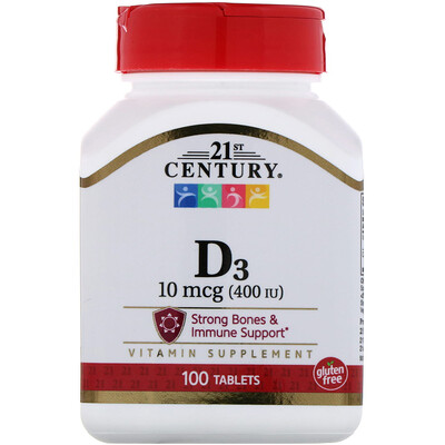 Vitamin D3, 400 IU, 100 Tablets