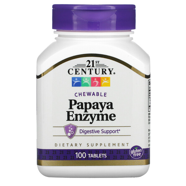 Papaya Enzyme, Chewable, 100 Tablets