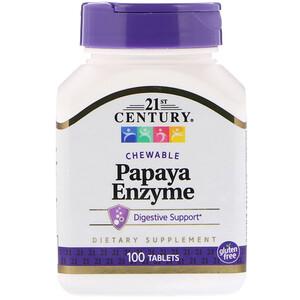 21 Сенчури, Papaya Enzyme, 100 Chewable Tablets отзывы