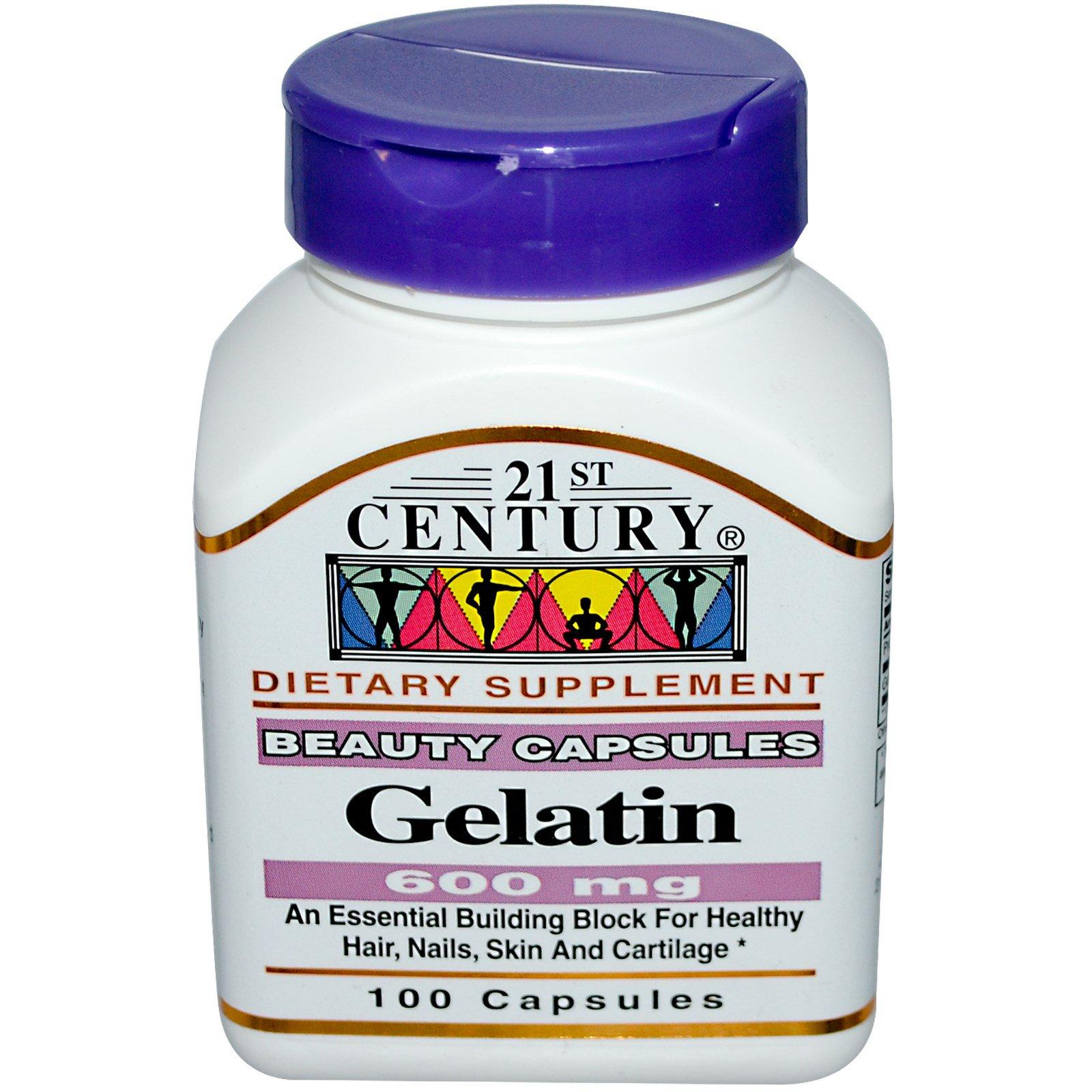 21st Century, Gelatin, 600 mg, 100 Capsules - iHerb.com