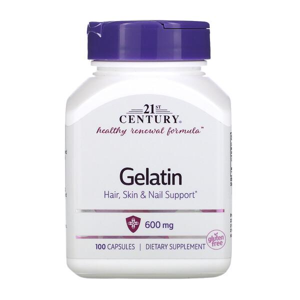 Gelatin, 600 mg, 100 Capsules