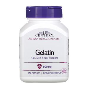 21 Сенчури, Gelatin, 600 mg, 100 Capsules отзывы покупателей