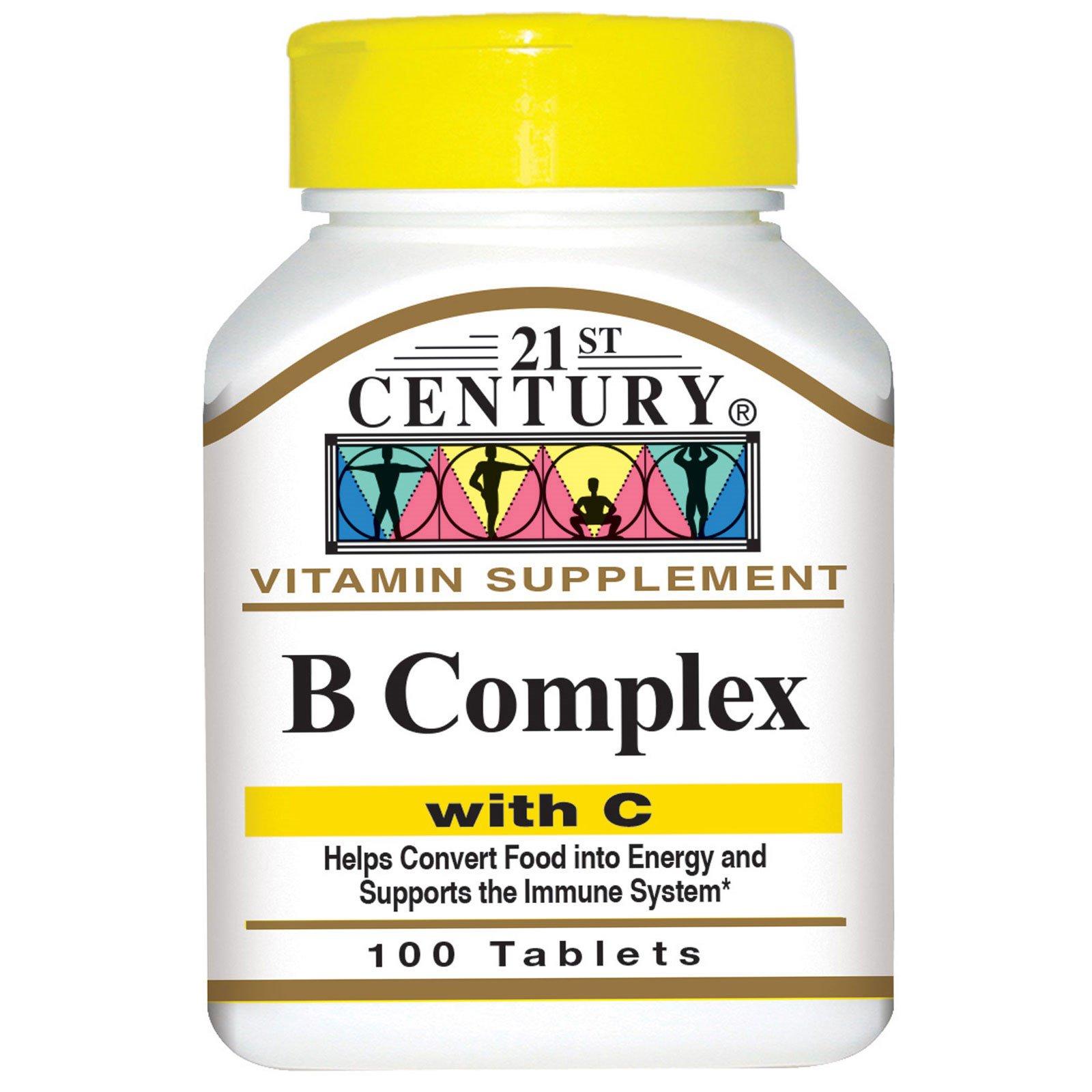 21st Century, Комплекс витаминов B, с витамином C, 100 таблеток