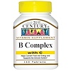 21st Century, B Complex, with C, 100 Tablets