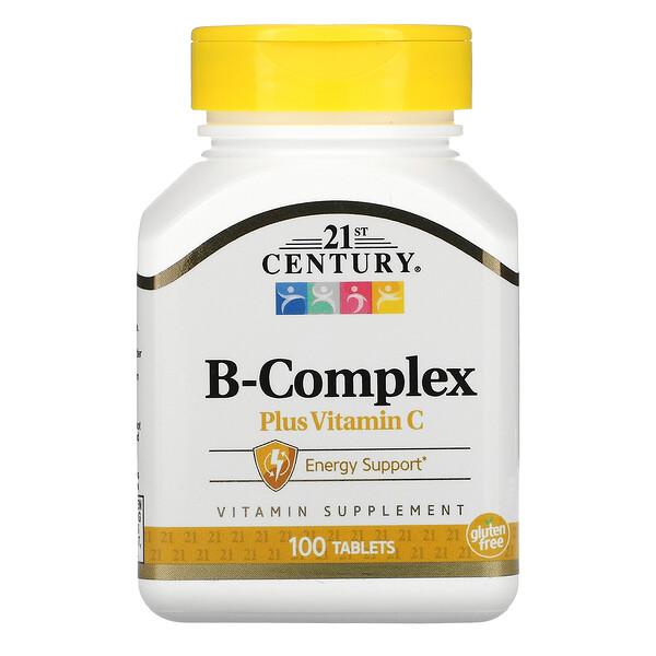 21st Century, Комплекс витаминов группыB с витаминомC, 100таблеток