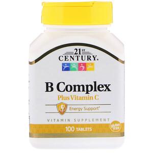 21 Сенчури, B Complex Plus Vitamin C, 100 Tablets отзывы покупателей