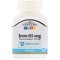 21st Century, 철분, 65 mg, 120 타블릿