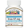 21st Century, Iron, 65 mg, 120 Tablets
