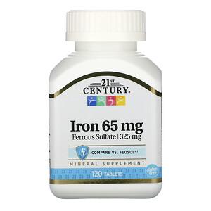 21 Сенчури, Iron, 65 mg, 120 Tablets отзывы покупателей