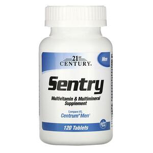 21 Сенчури, Sentry Men, Multivitamin & Multimineral Supplement, 120 Tablets отзывы