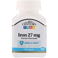 21st Century, 鉄, 27 mg, 110錠