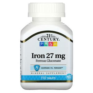 21 Сенчури, Iron, 27 mg, 110 Tablets отзывы покупателей