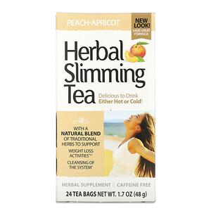 21 Сенчури, Herbal Slimming Tea, Peach-Apricot, Caffeine Free, 24 Tea Bags, 1.7 oz (48 g) отзывы покупателей