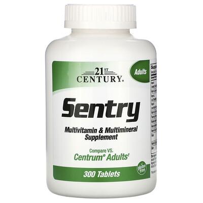 21st Century Sentry, мультивитаминная и мультиминеральная добавка, 300таблеток