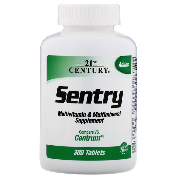 Sentry, Multivitamin & Multimineral Supplement, 300 Tablets