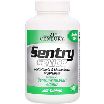 Sentry Senior, мультивитаминная и минеральная добавка, для взрослых от 50 лет, 265 таблеток белково витаминно минеральная добавка к рациону good fish meal рыбная мука 250г