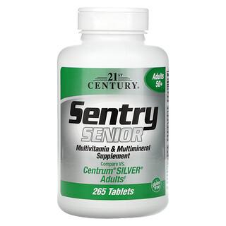 21st Century, Sentry Senior، مكمل غذائي من الفيتامينات المتعددة والمعادن المتعددة، لكبار السن فوق 50 عامًا، 265 قرصًا