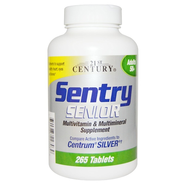 21st Century, Sentry Senior, Multivitamin & Mineral Supplement, Adults 50+, 265 Tablets