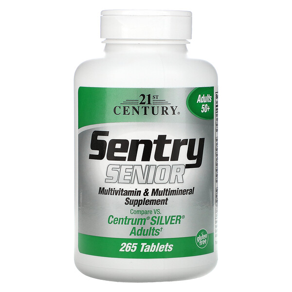 Sentry Senior, Multivitamin & Multimineral Supplement, Adults 50+, 265 Tablets