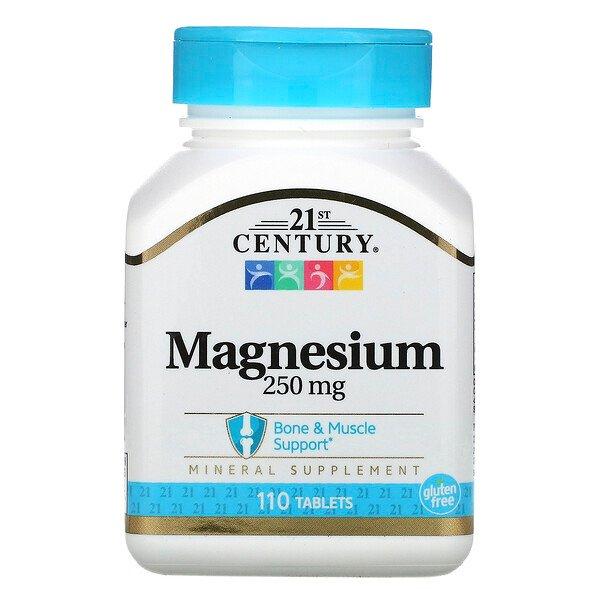 Magnesium, 250 mg, 110 Tablets