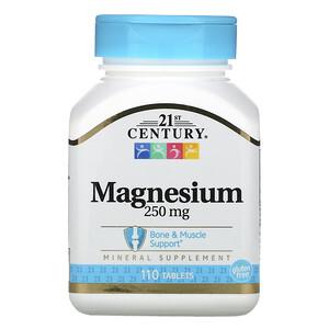 21 Сенчури, Magnesium, 250 mg, 110 Tablets отзывы покупателей