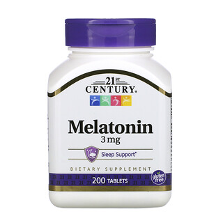 21st Century, Melatonin, 3 mg, 200 Tablets