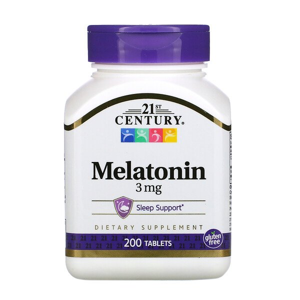 Melatonin, 3 mg, 200 Tablets