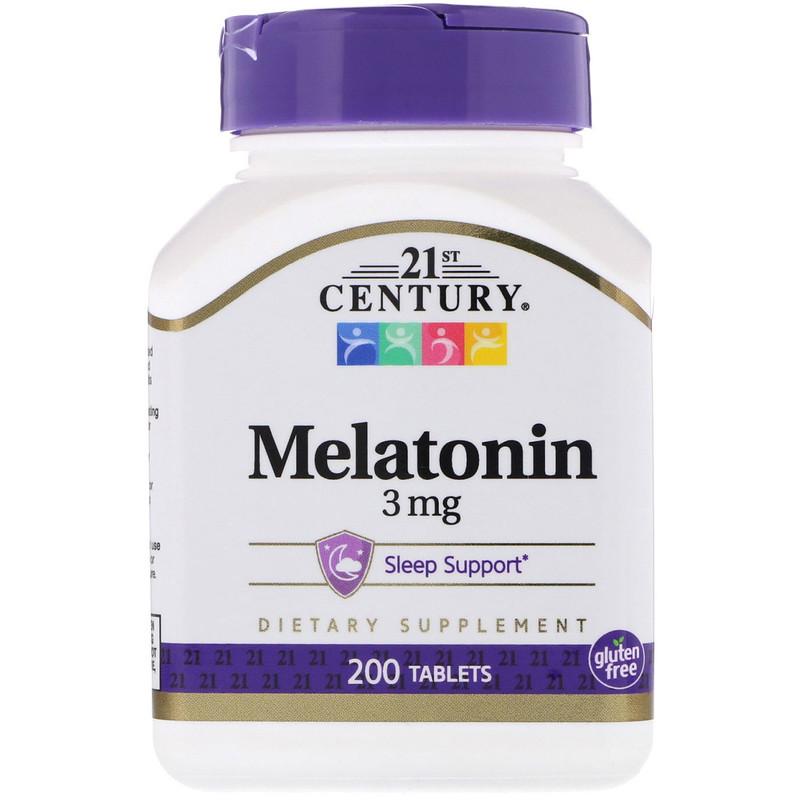 Melatonin, 3 mg, 200 Tablets