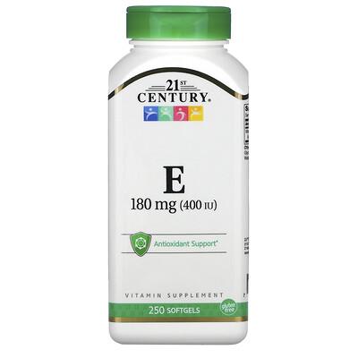 Купить 21st Century витаминE, 180мг (400МЕ), 250капсул
